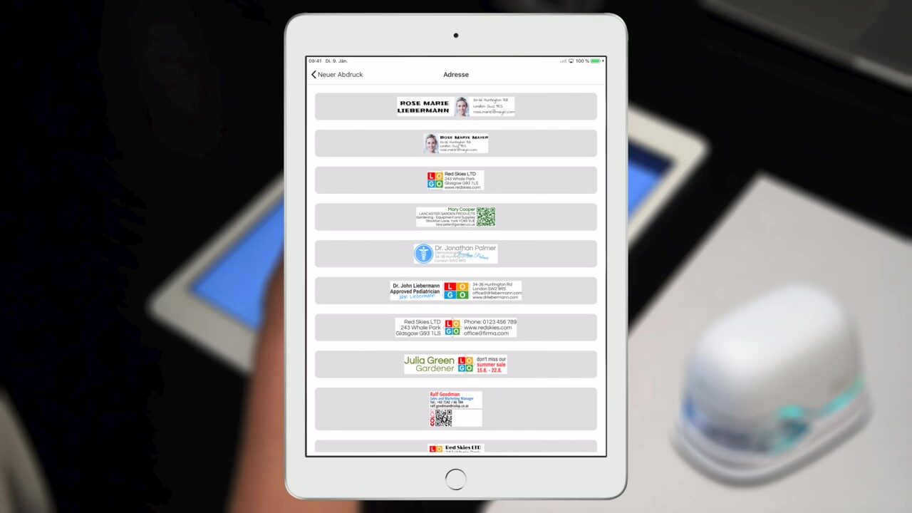 How to design an imprint in the e-mark app